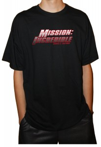 Mission Incredible 2 color shirt mock up